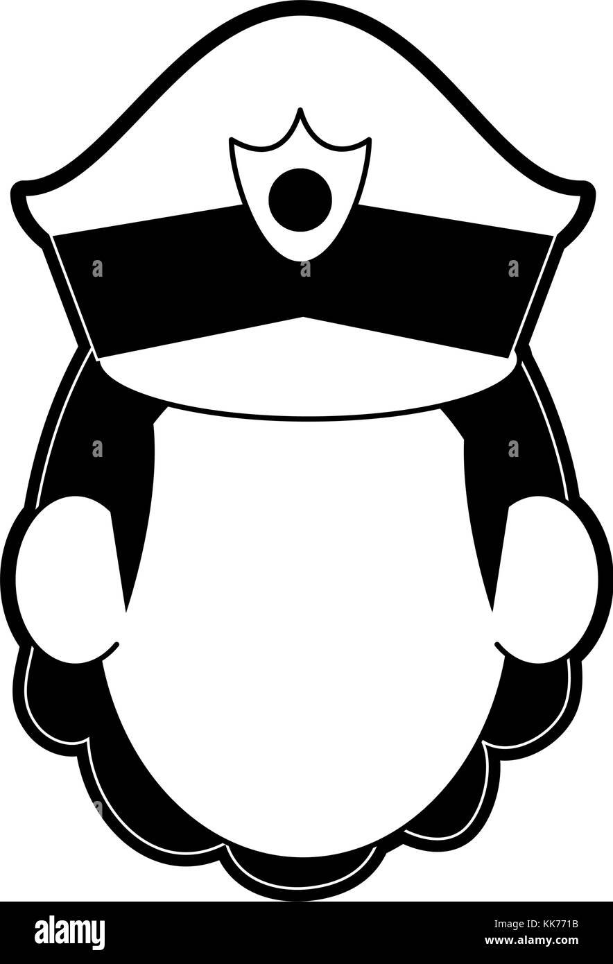 Woman police avatar cartoon - Stock Image