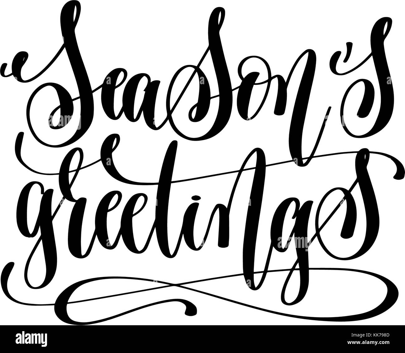 Seasons Greeting Black And White Stock Photos Images Alamy