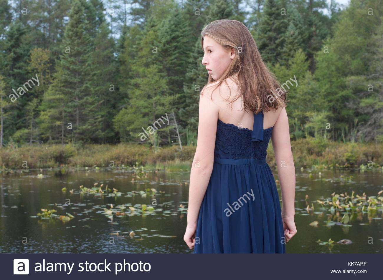 The contemplations of life in the eyes of a child - Stock Image