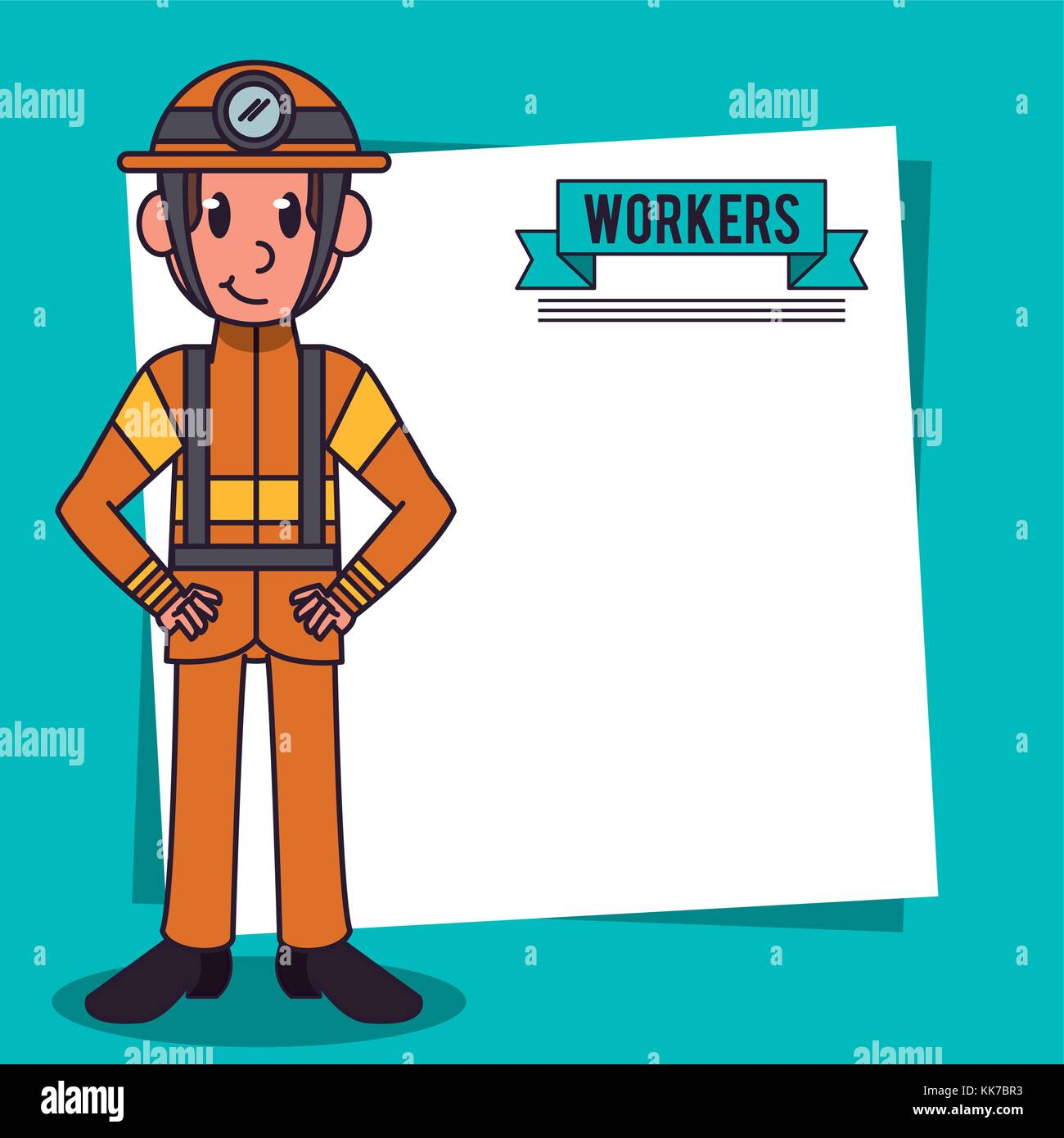 Workers and jobs cartoon - Stock Image