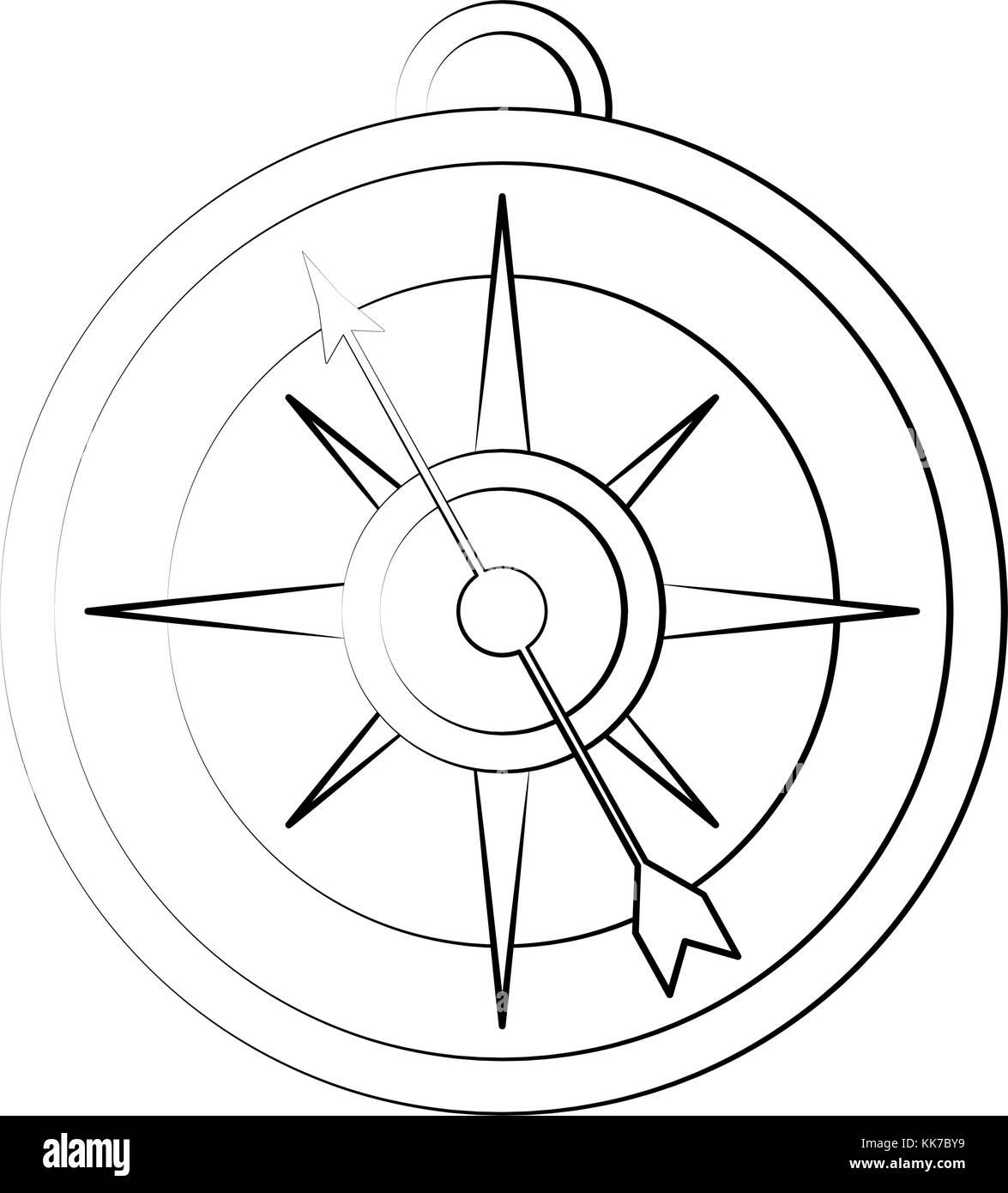 Old navigation compass - Stock Image