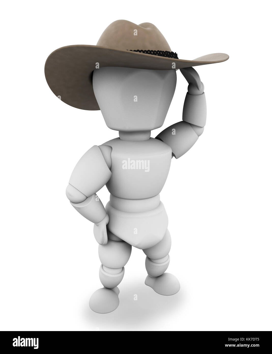 5532639fae2 3D render of a cowboy with stetson hat Stock Photo  166736309 - Alamy