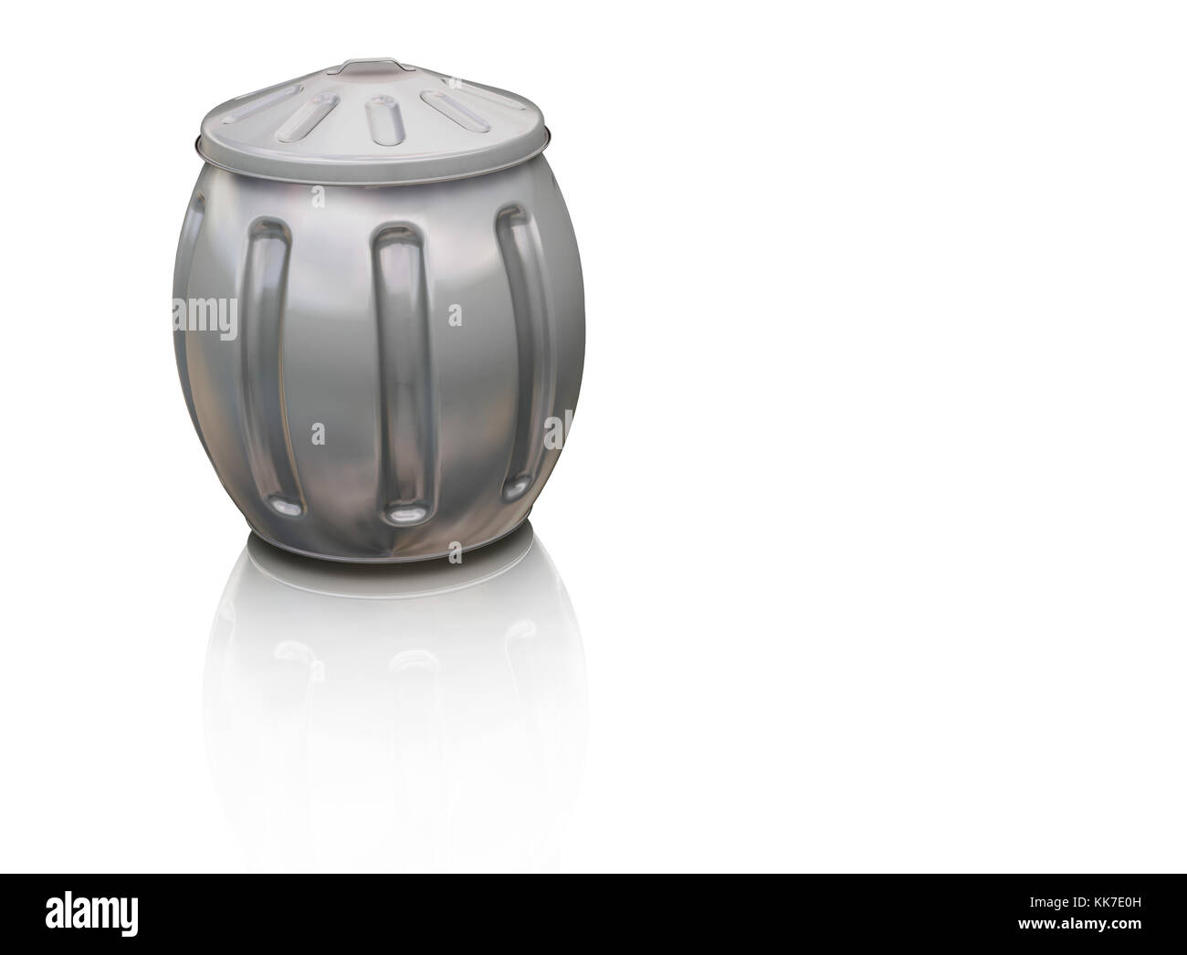 3D render of a full trash can - Stock Image