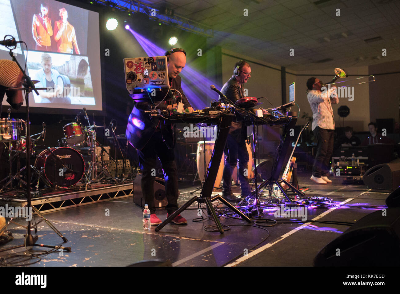 Addictive TV at the Musicport music festival, Whitby, North Yorkshire, UK, October 21, 2017 - Stock Image
