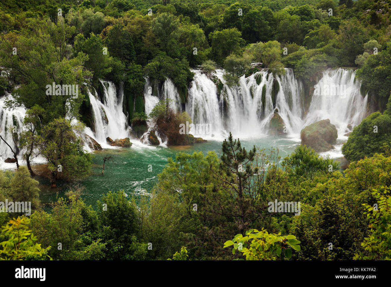 Kravice waterfall in Bosnia and Herzegovina - Stock Image