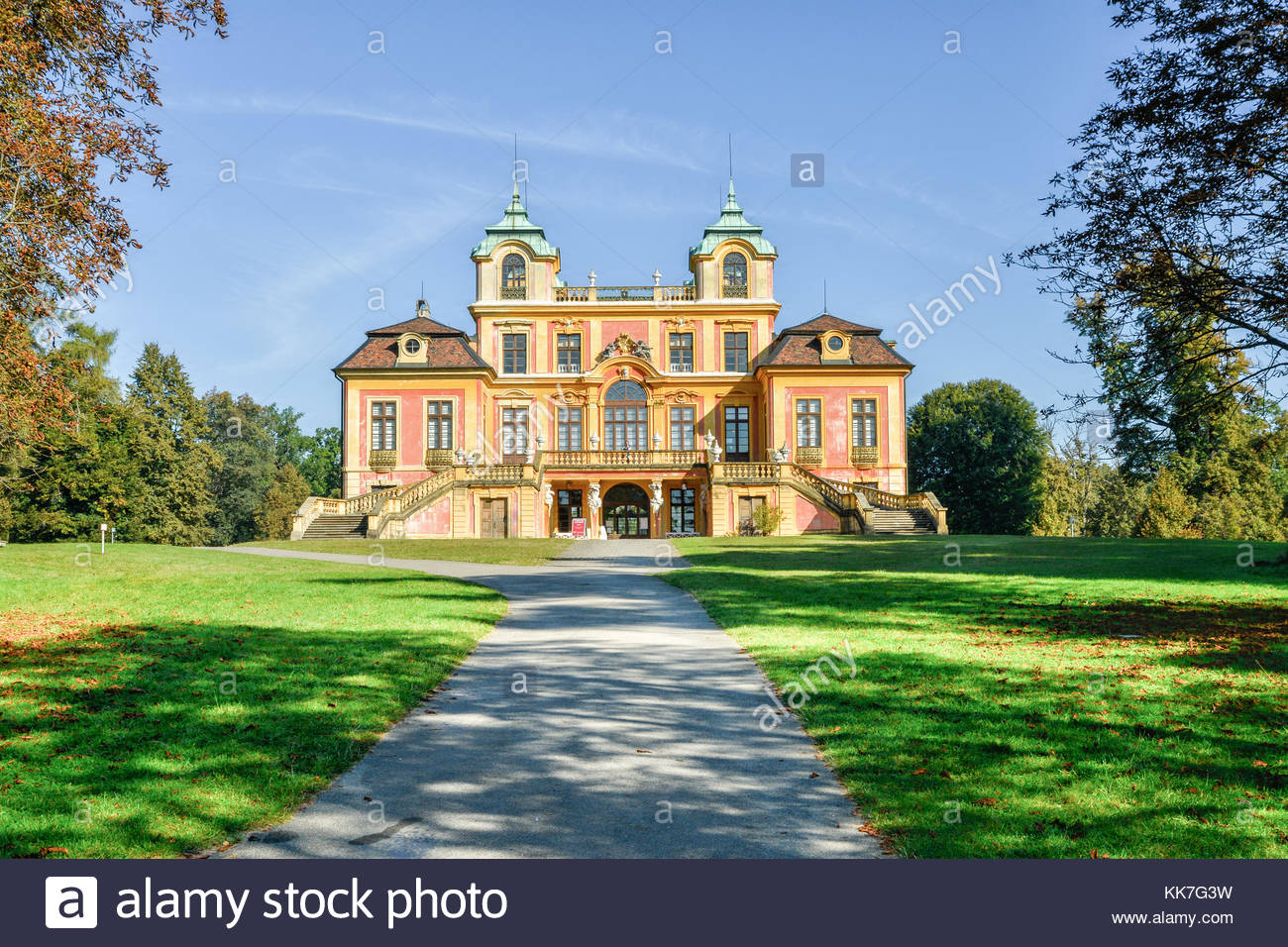 Schloss Favorite, Ludwigsburg, Baroque maison de plaisance and hunting lodge build under the rule of sovereign Duke - Stock Image