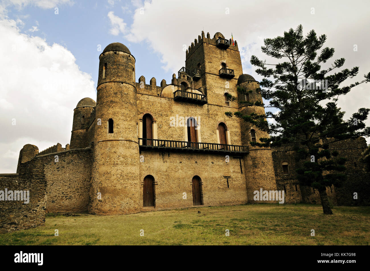 The Castle of Emperor Fasilides, Fasil Ghebbi, Gondar, Ethiopia Stock Photo