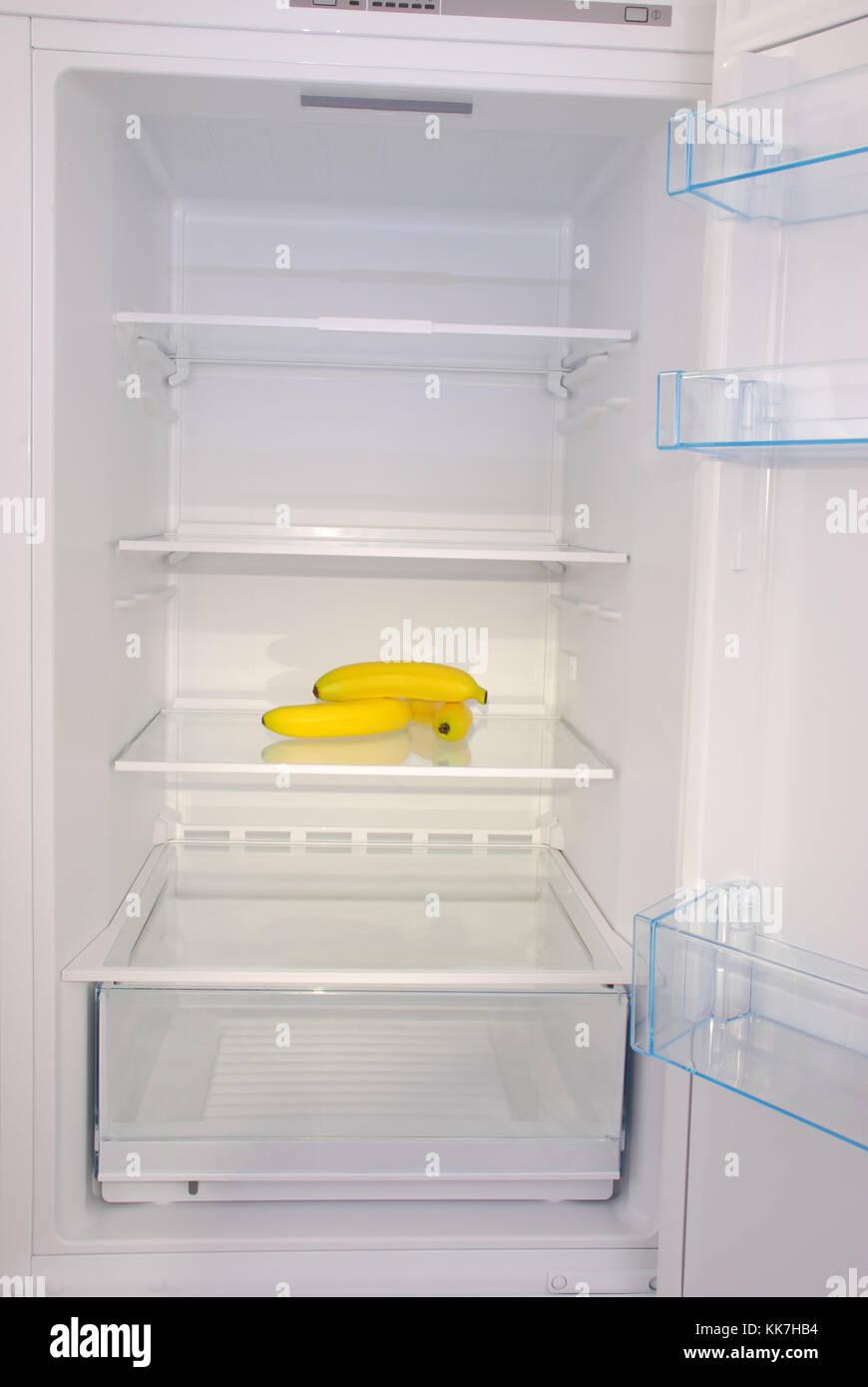 open empty refrigerator door open stock photos open. Black Bedroom Furniture Sets. Home Design Ideas