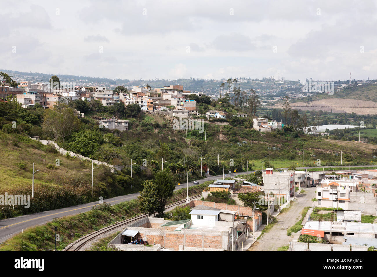 The town of Ibarra, Northern Ecuador, South America - Stock Image