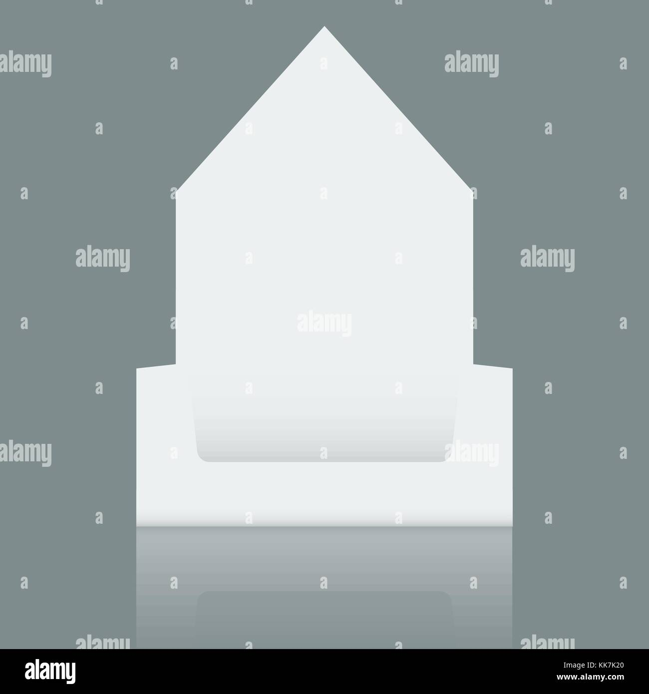 Empty Cardboard display box mockup with front viewpoint. Realistic drawing. - Stock Vector
