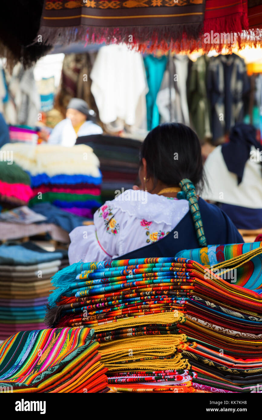 Otavalo Market, Ecuador South America Stock Photo