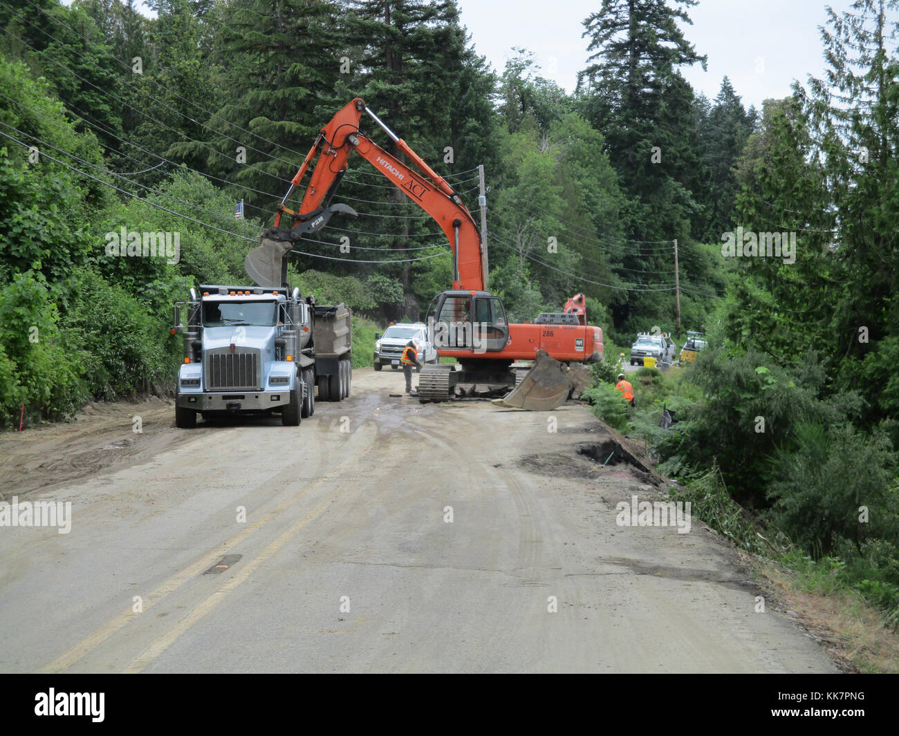 Crews working for WSDOT closed SR 302 at milepost 4 5 during the