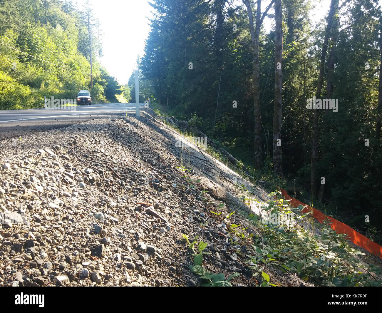 WSDOT received funding to install and replace guardrail along SR