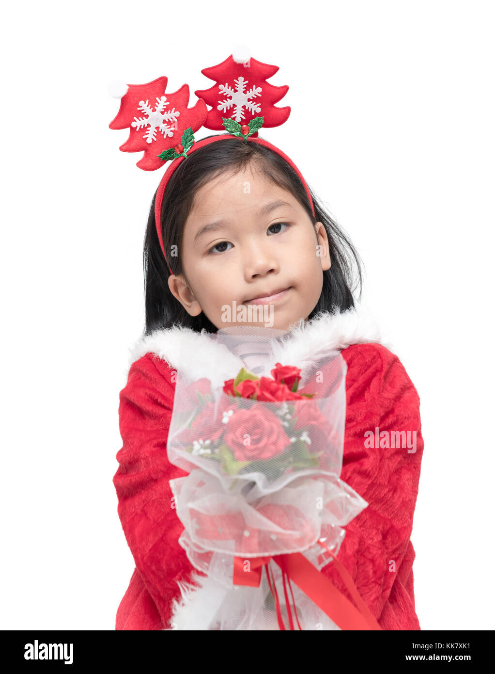 59323a1db Adorable Child Holding Rose Stock Photos   Adorable Child Holding ...