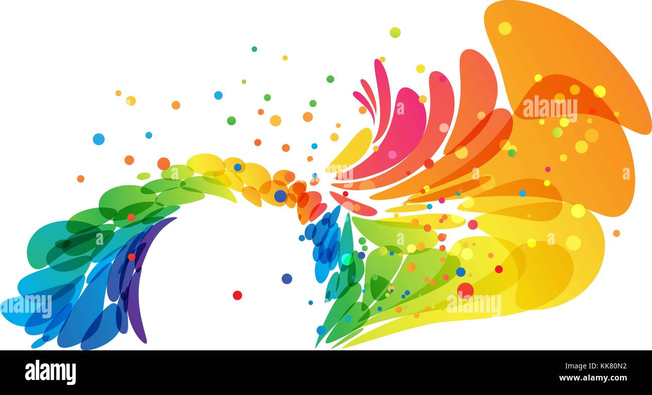 Color Abstract Round Border On White Background   Stock Image