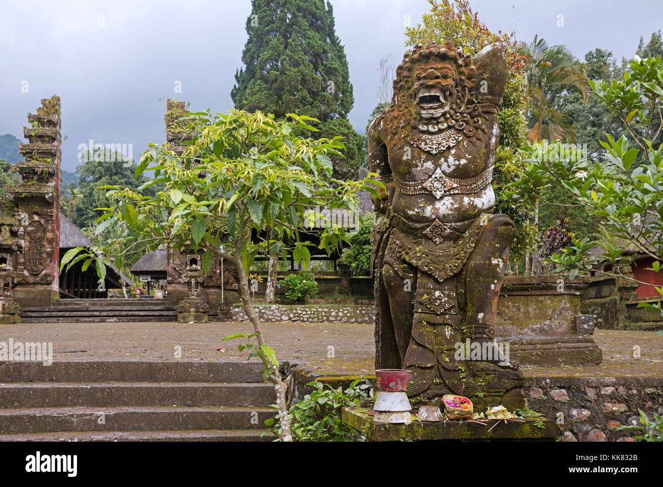 Entrance of the Pura Luhur Batukaru, Hindu temple in Tabanan on the southern slope of Mount Batukaru, volcano on - Stock Image