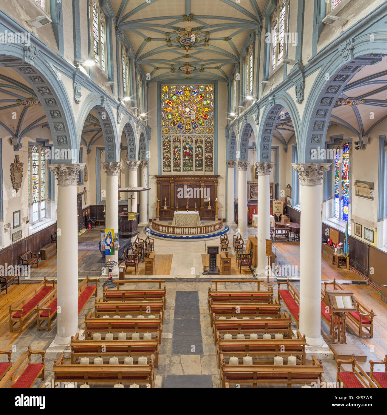 LONDON, GREAT BRITAIN - SEPTEMBER 14, 2017: The church St. Catharine Cree. - Stock Image