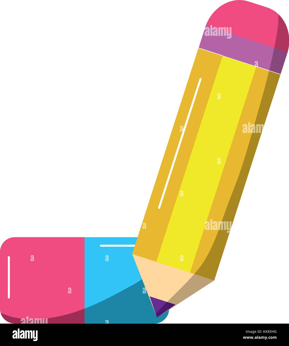 school supplies icon image  - Stock Vector