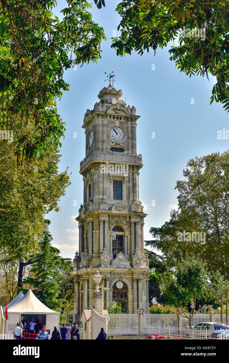 Dolmabahçe Clock Tower, Istanbul, Turkey. - Stock Image