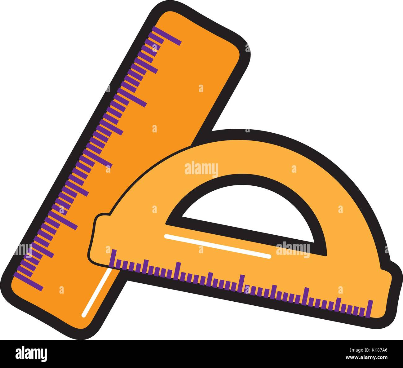 rulers school supplies icon image  - Stock Vector