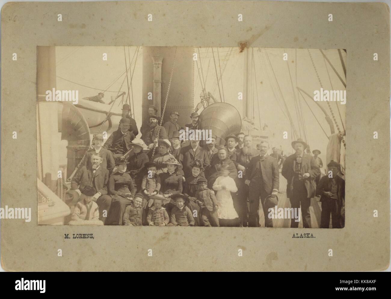 Passengers aboard ship to Alaska, Photograph by M Lorenz