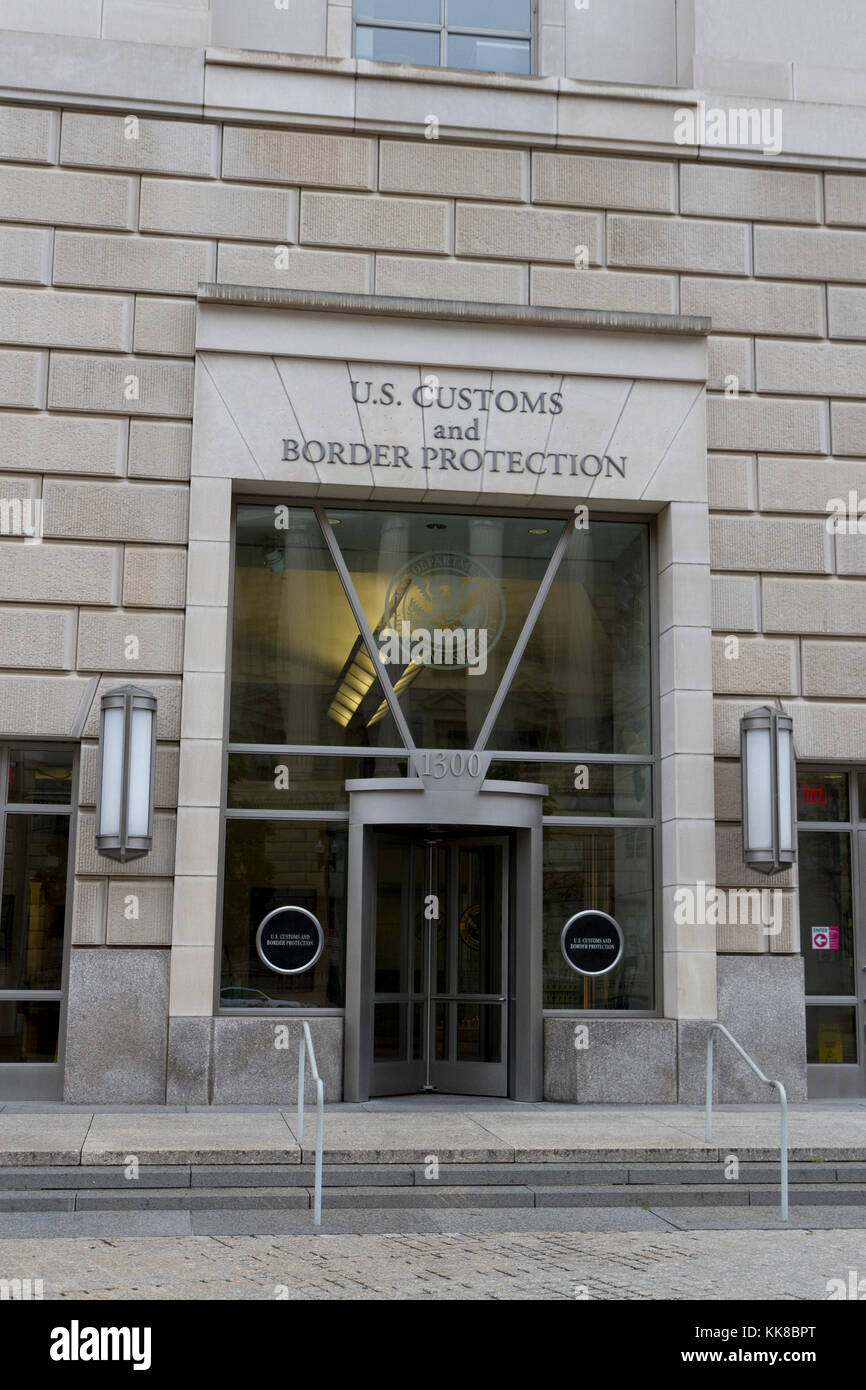 Entrance to the US Customs and Border Protection (CBP), part of the Ronald Reagan Building, Washington DC, United Stock Photo