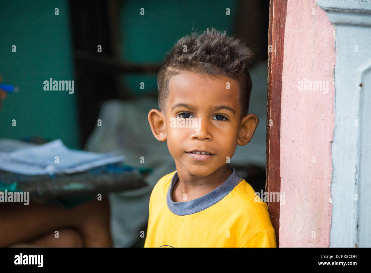 Cuban boy in Havana, Cuba Stock Photo