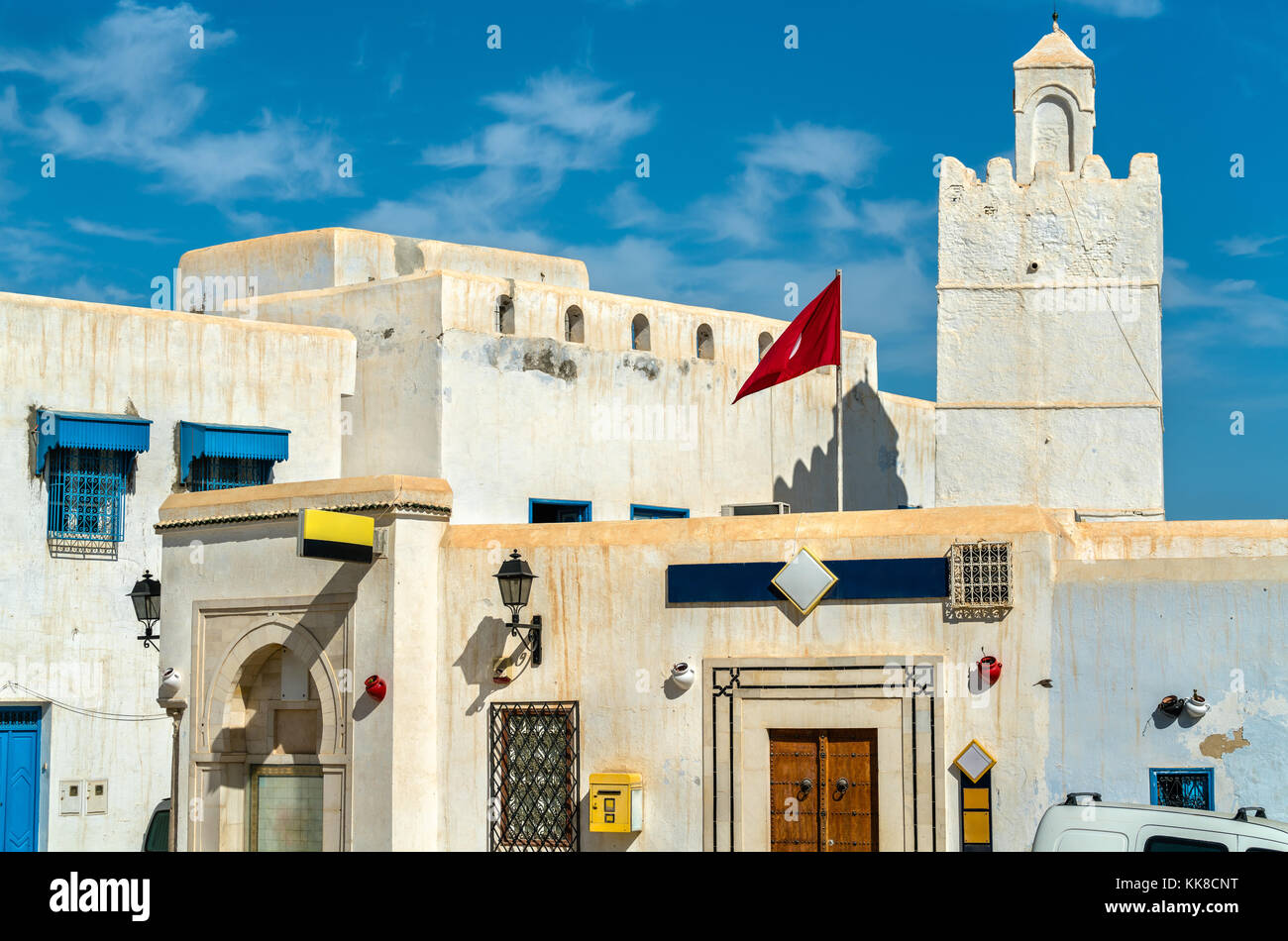 Traditional houses in Medina of Kairouan. A UNESCO world heritage site in Tunisia - Stock Image