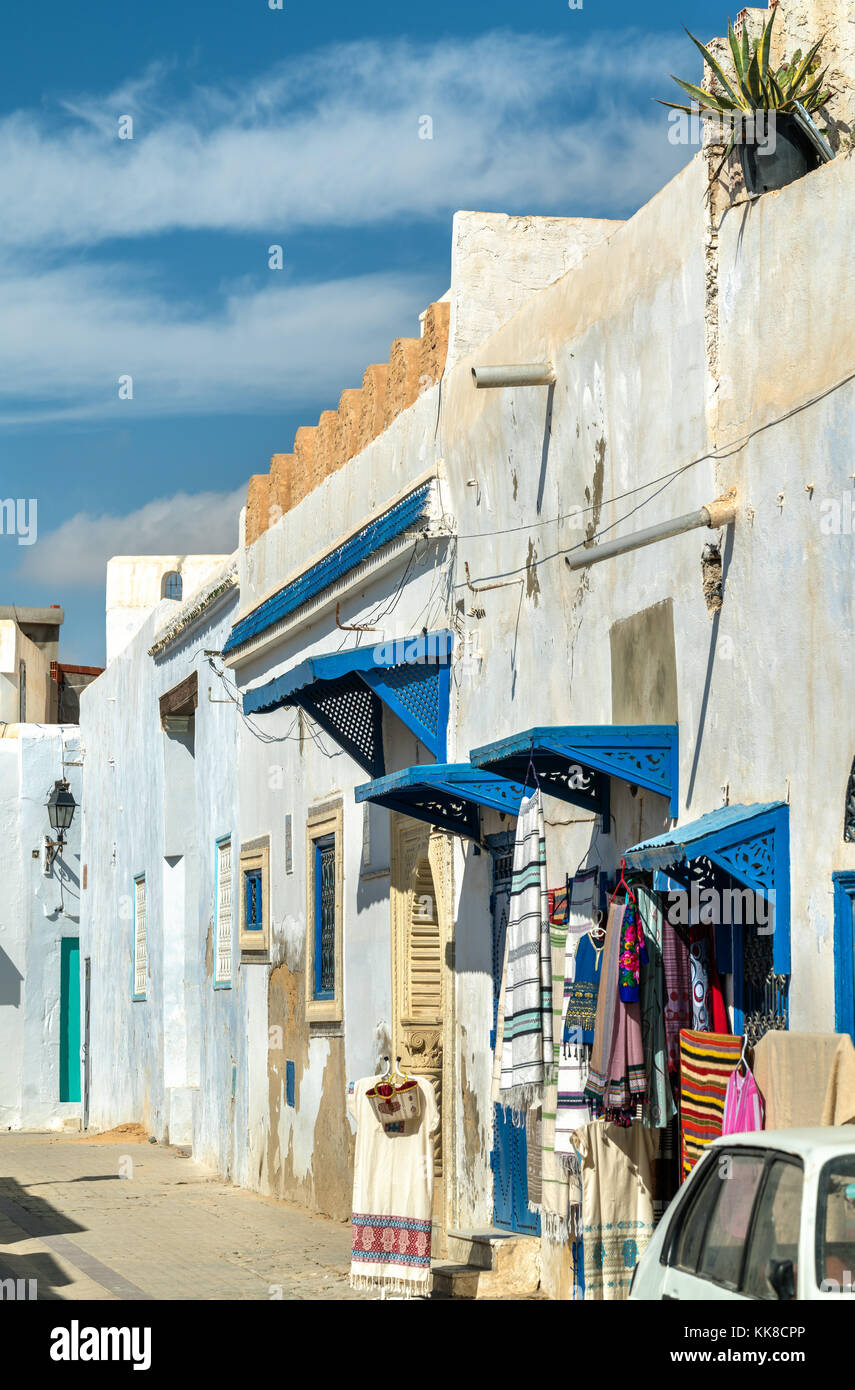 Traditional houses in Medina of Kairouan. A UNESCO world heritage site in Tunisia Stock Photo
