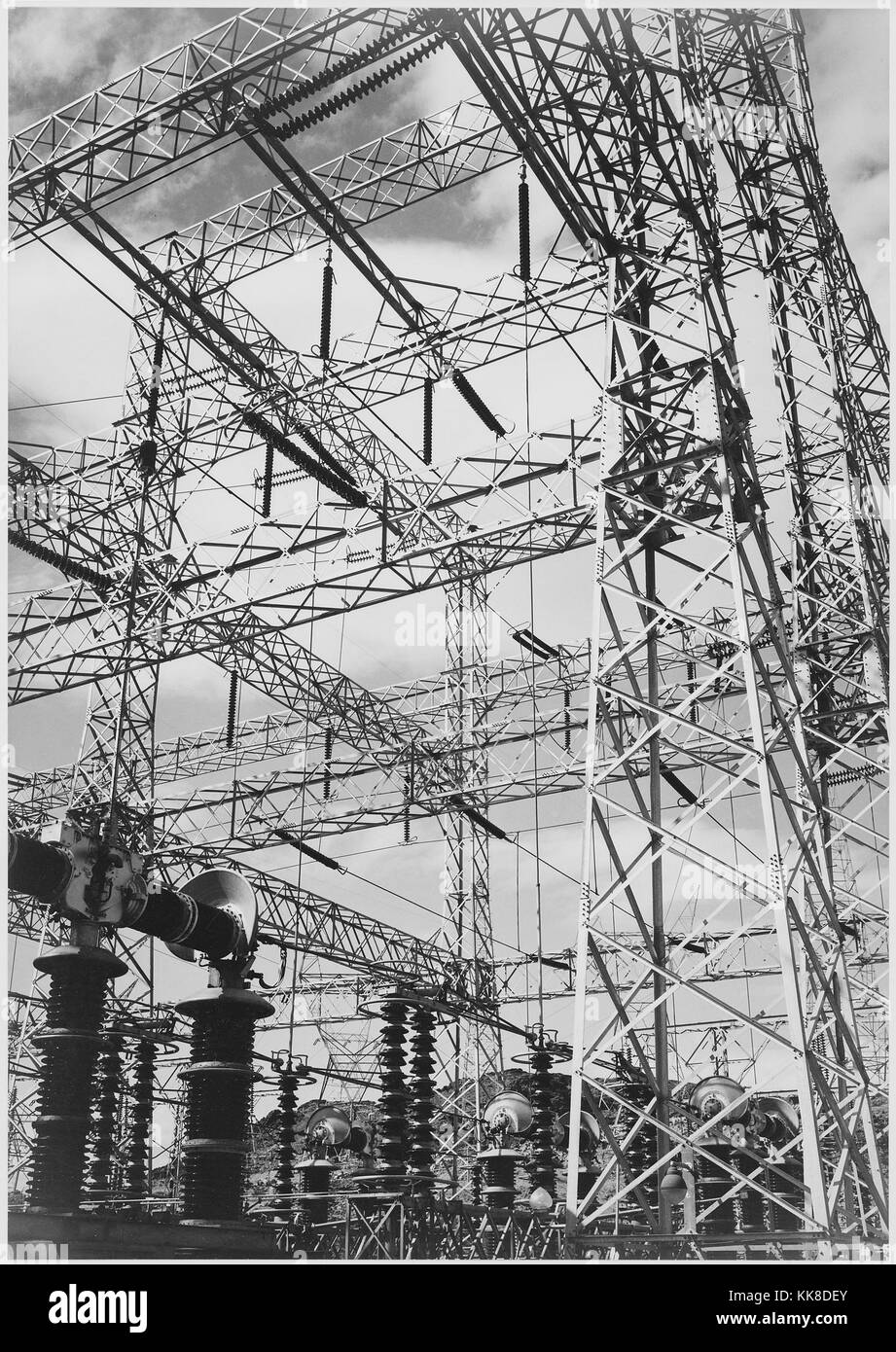 Units Black And White Stock Photos Images Alamy Trailer Wiring Diagram For Adams Photograph Looking Up At Wires Of The Boulder Dam Power Ansel Photographs