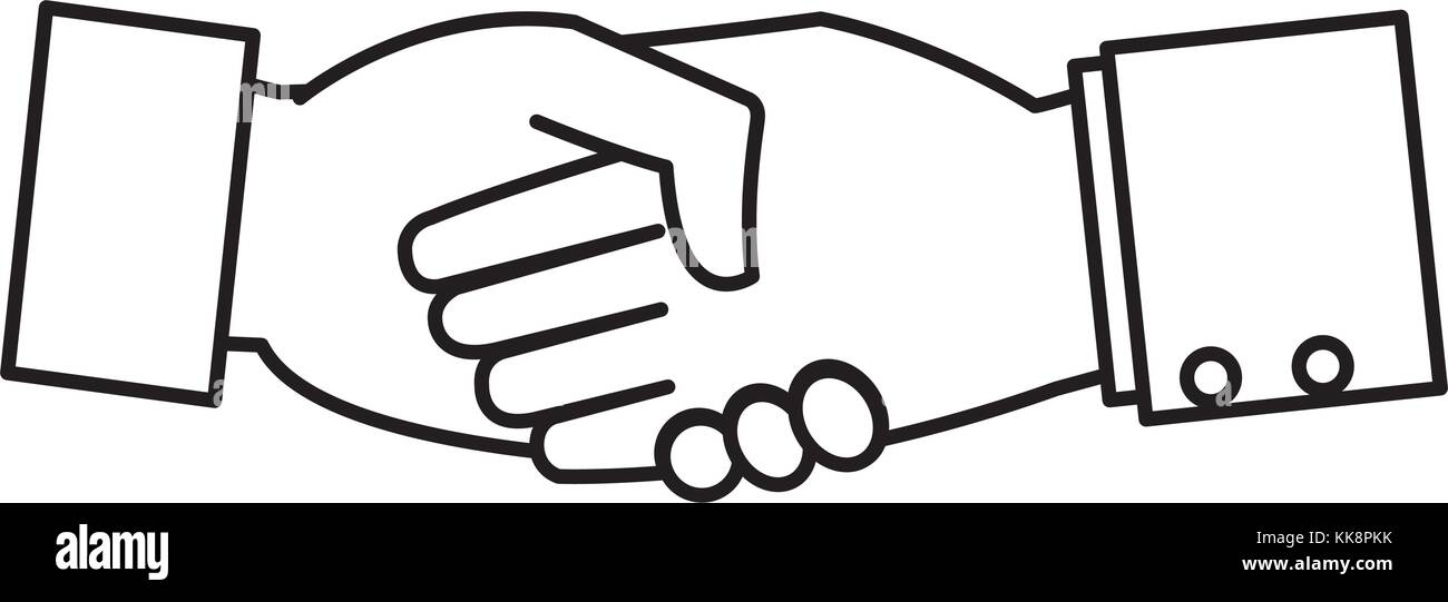 Isolated human hand design - Stock Image