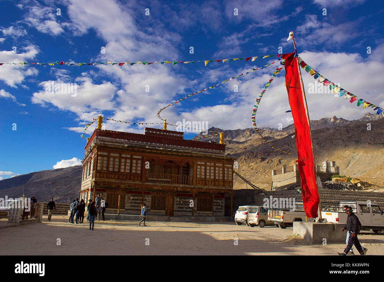 Decorations at Monastery of Gue, Spiti, Shimla, Himachal Pradesh, Northern India. - Stock Image