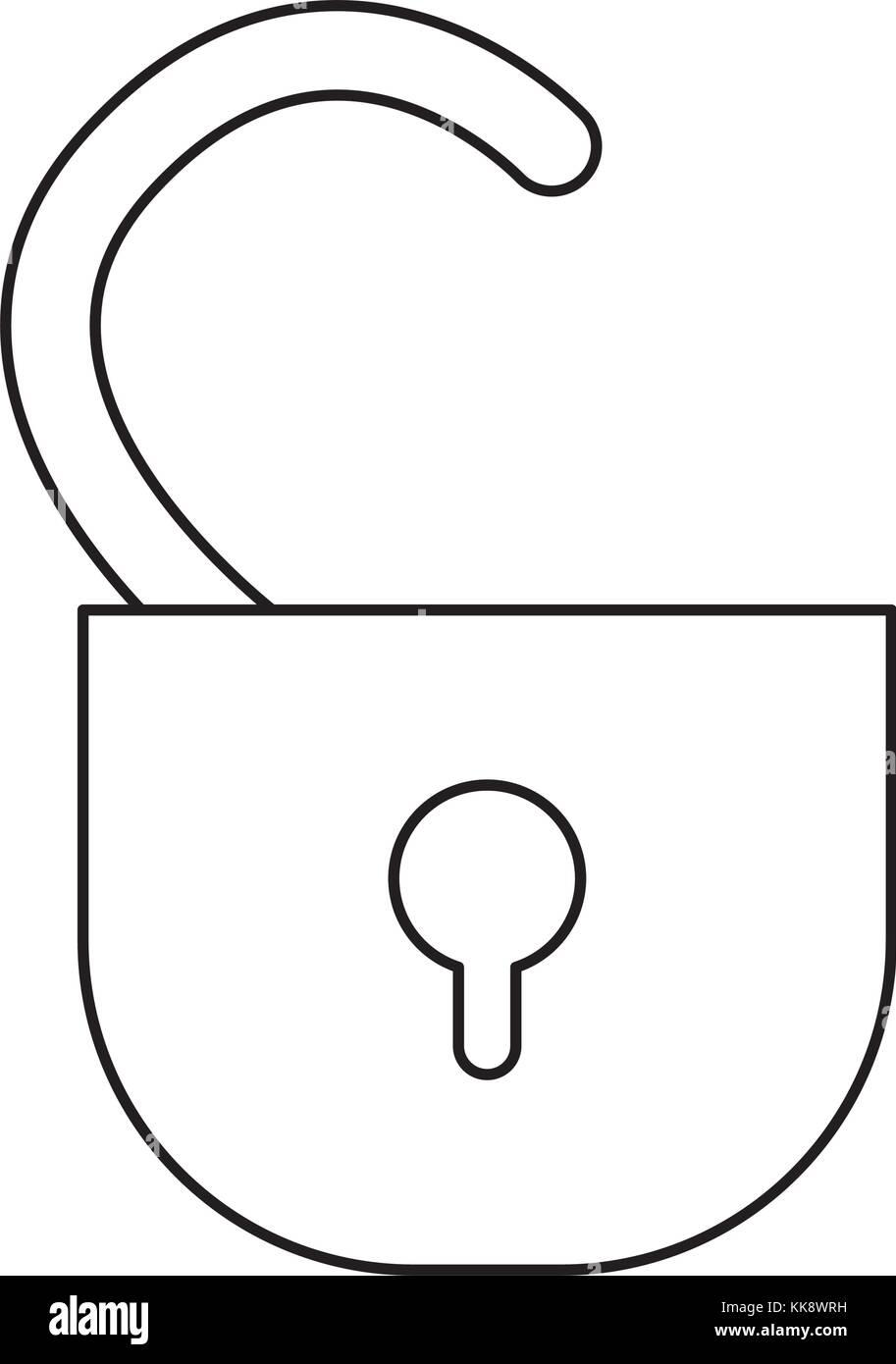 padlock  vector illustration - Stock Image