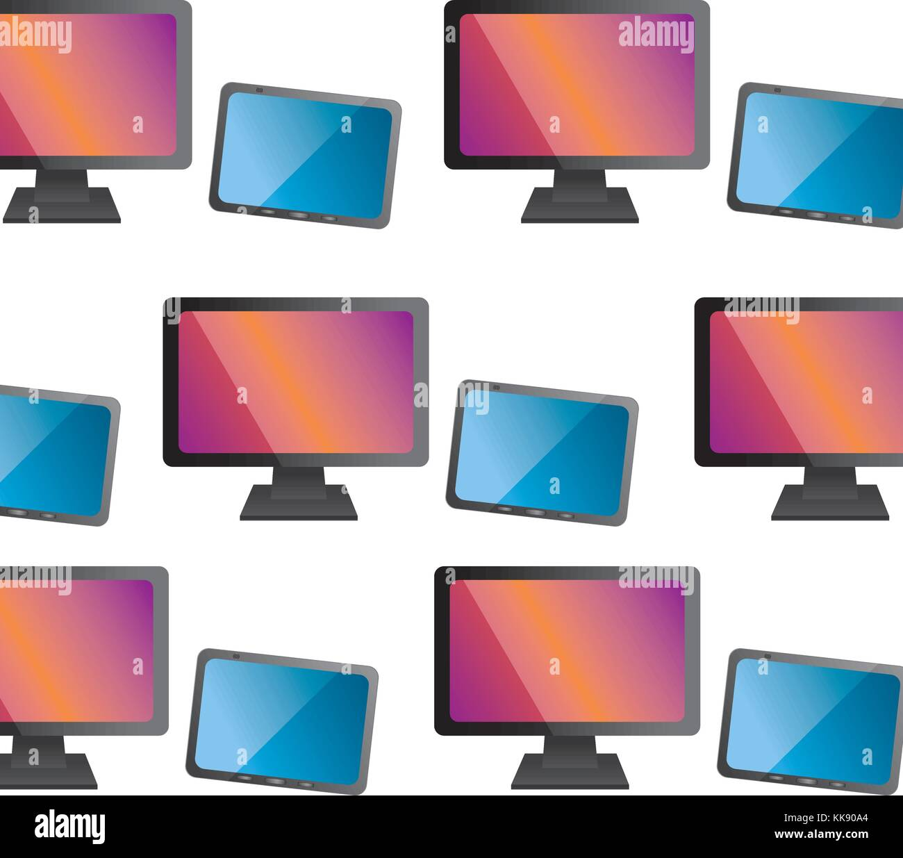 computer monitor icon image  Stock Vector