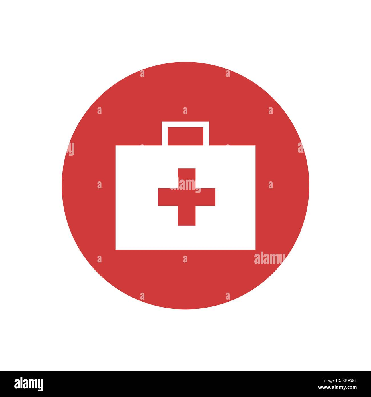 First Aid Kit Bag Icon Vector Graphic Illustration Design - Stock Image