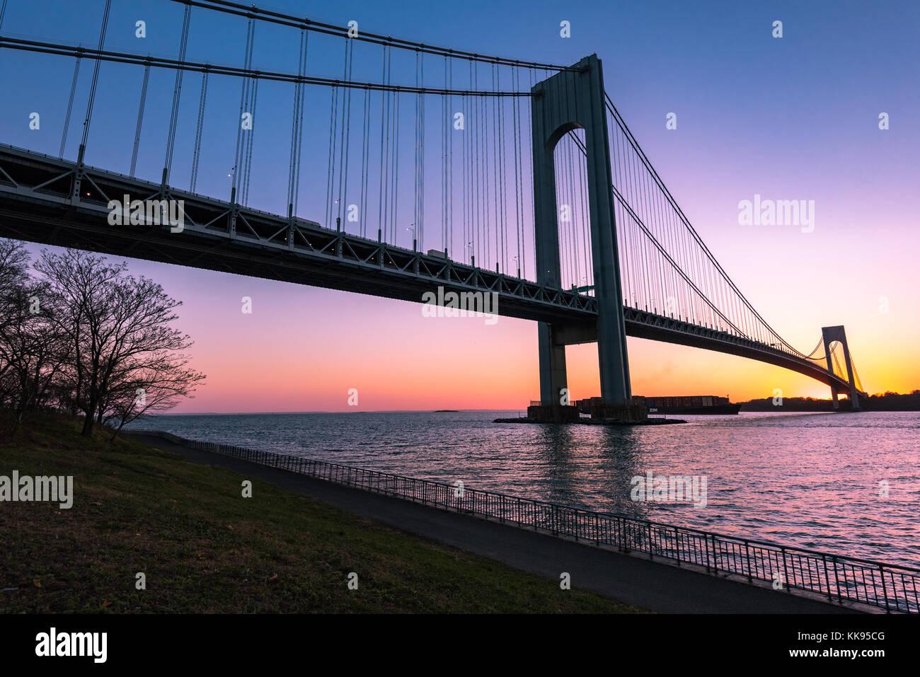 Fort On Staten Island Side Of Verrazano Bridge