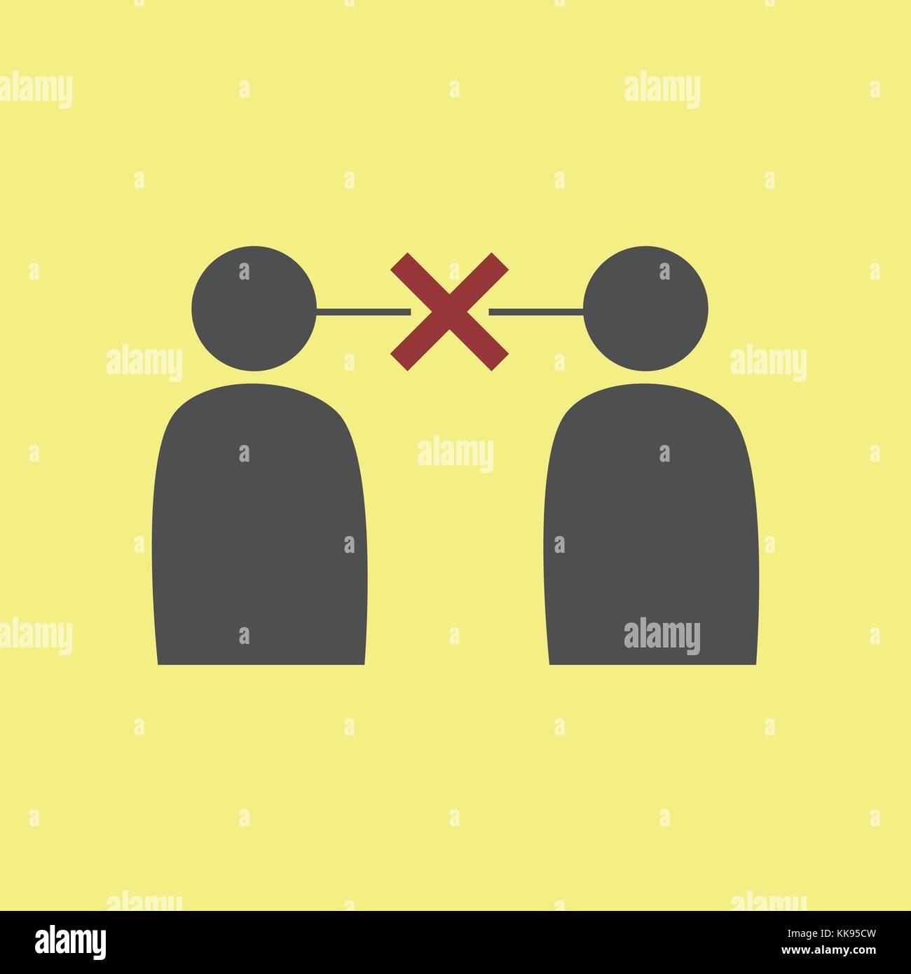 Simple Miscommunication Symbol Vector Graphic Illustration Design - Stock Image