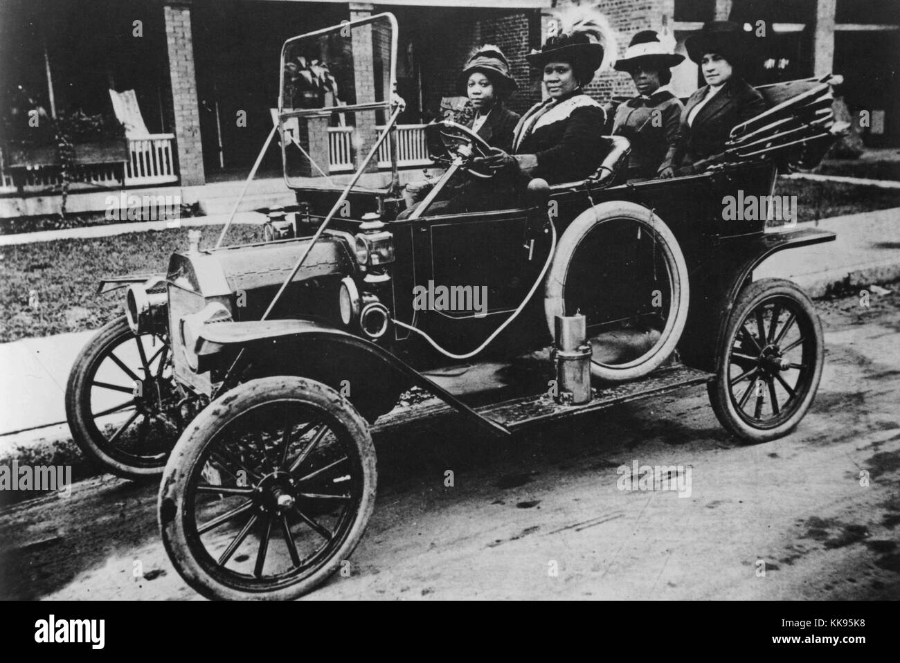 A photograph of Sarah Breedlove driving a car, she was better known ...