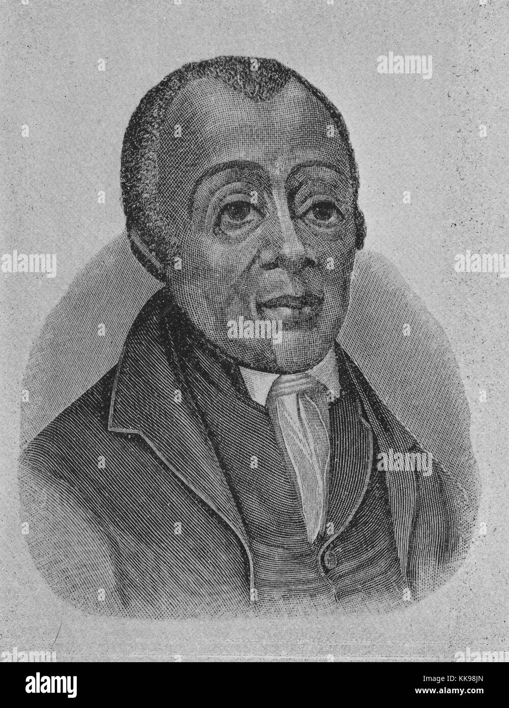 Etched portrait of Reverend Richard Allen, a minister, educator, writer, and one of the United States' most - Stock Image