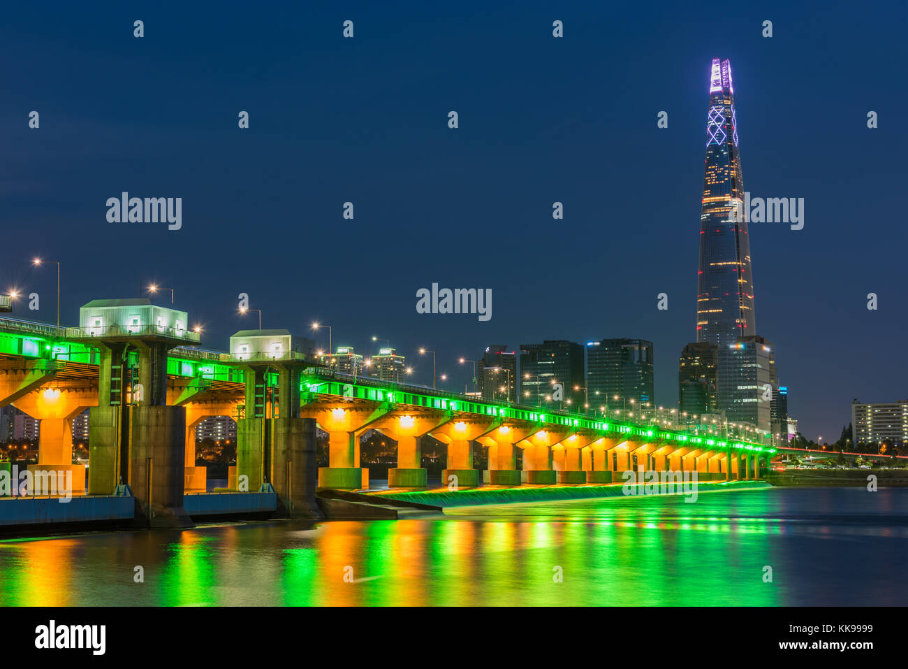 Seoul City and Lotte Tower ,South Korea. - Stock Image