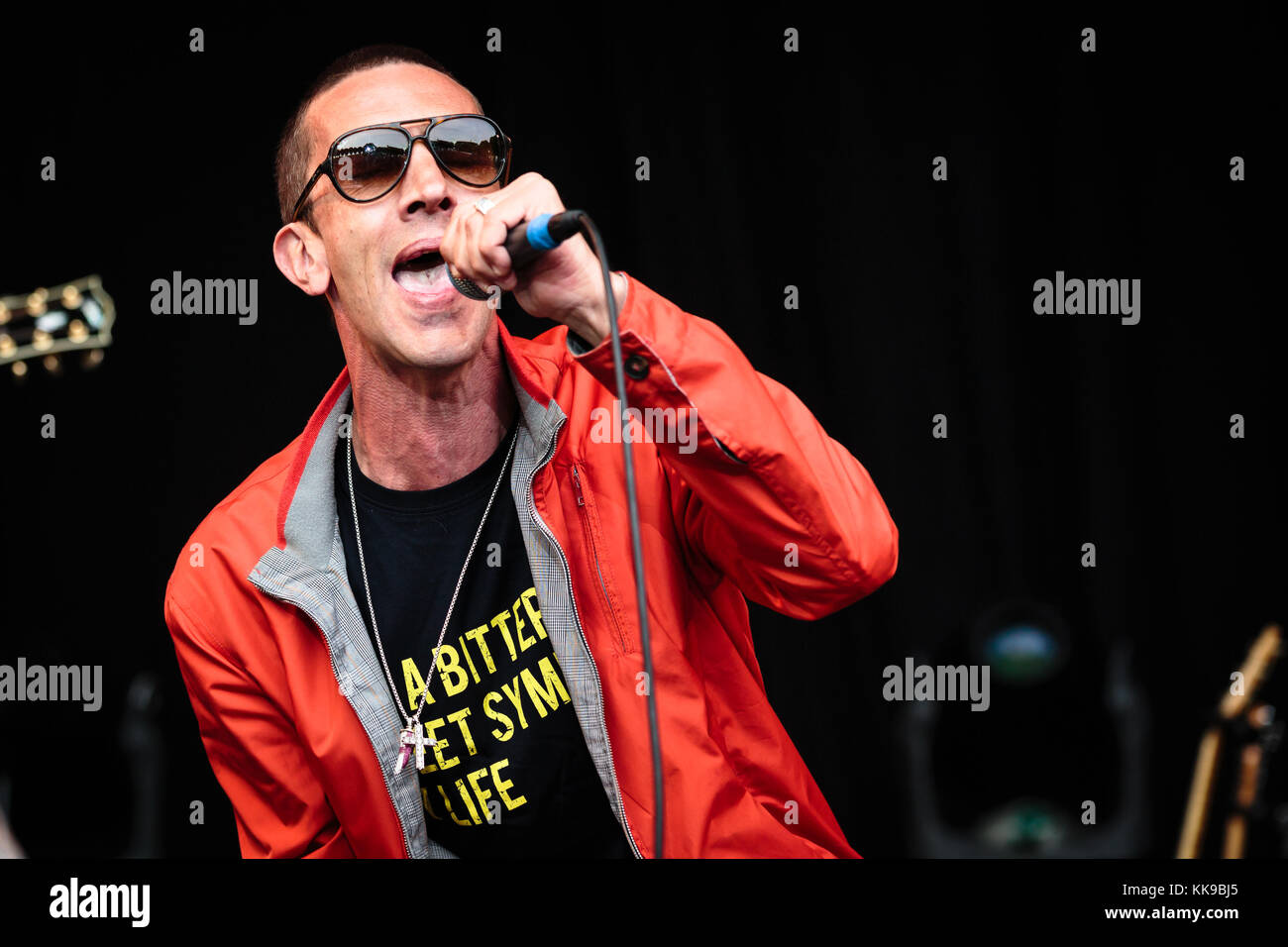 The English singer, songwriter and musician Richard Ashcroft performs a live concert during the Norwegian music Stock Photo