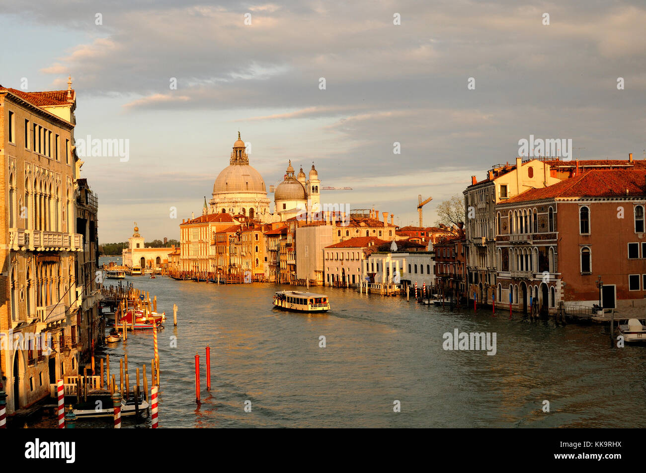 View of Grand Canal, Venice from Academia Bridge - Stock Image
