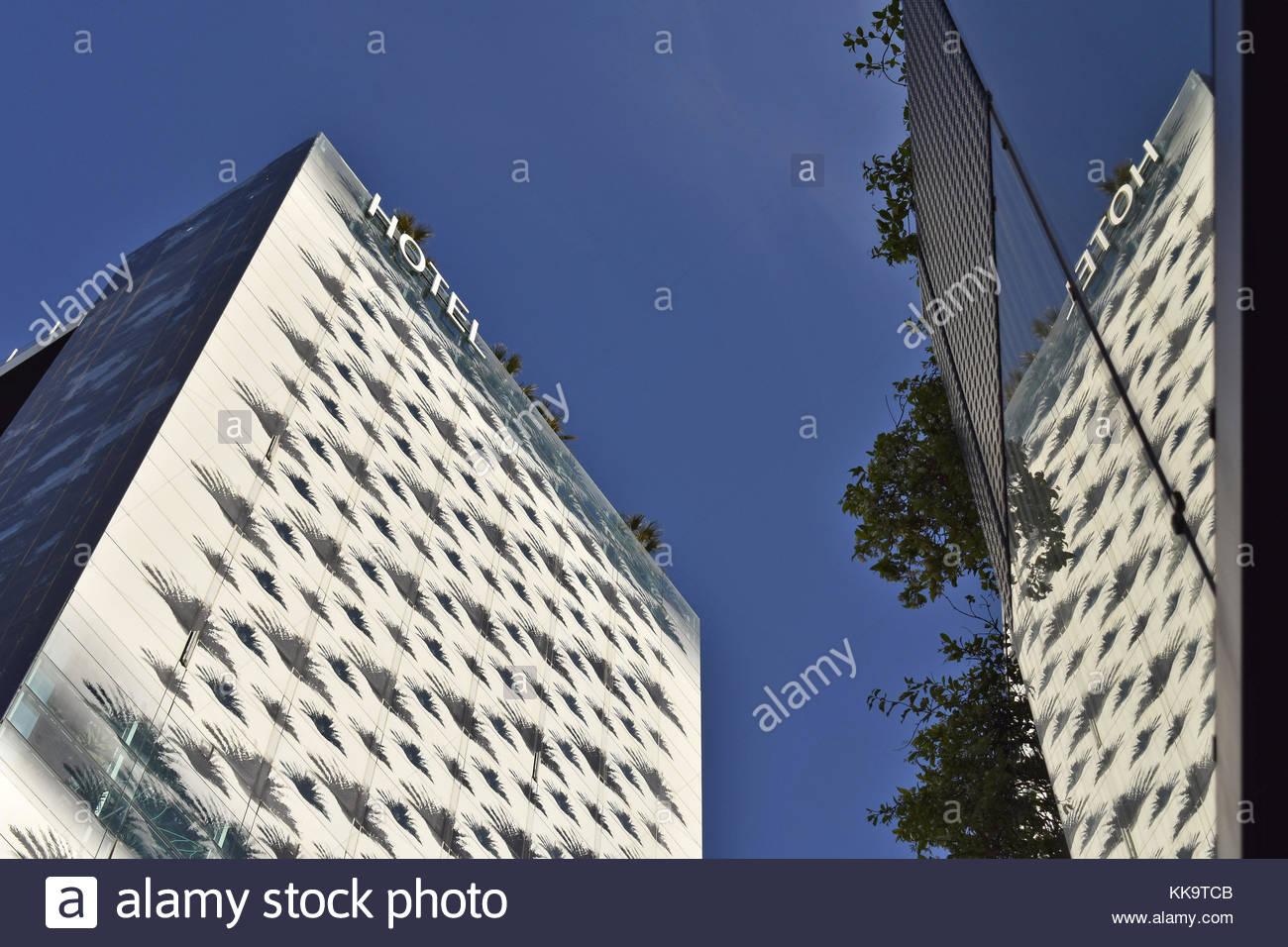 Hotel Renaissance Porta Fira modern hi rise structure in L'Hospitalet de Llobregat Barcelona Spain. - Stock Image