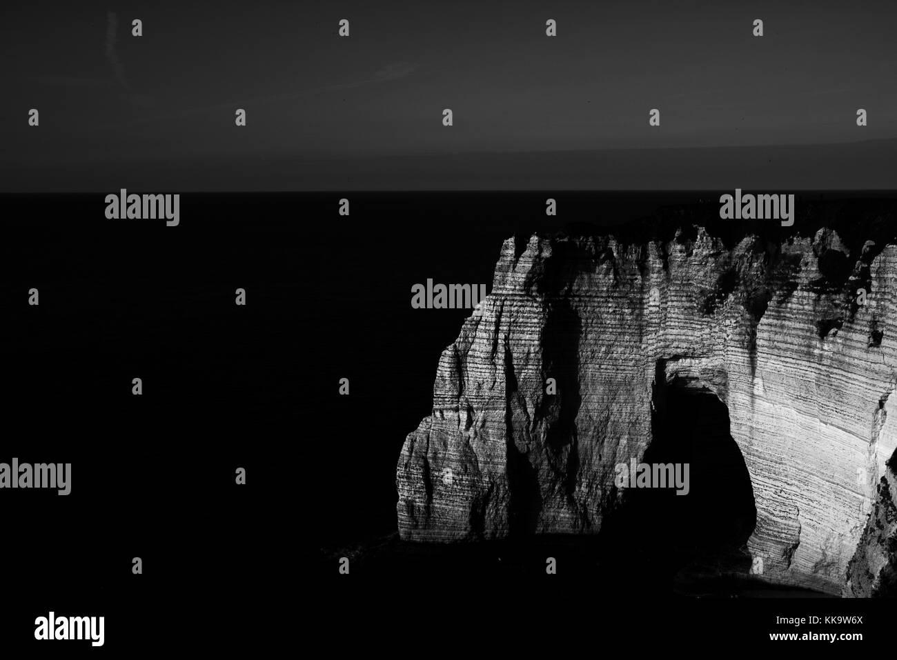 White cliff at Etretat, France - Stock Image