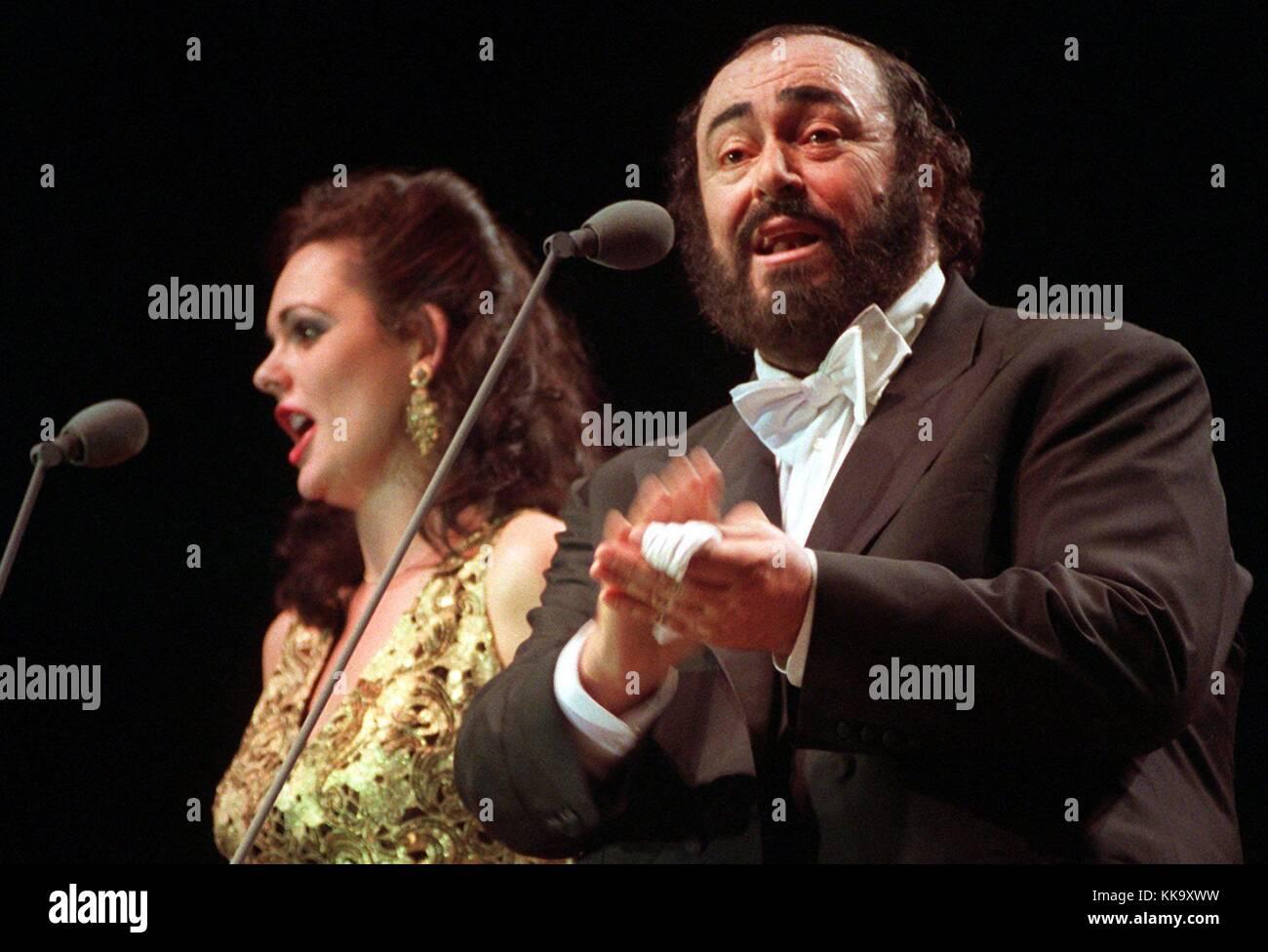 Luciano Pavarotti, Italian star tenor and soprano singer Monica
