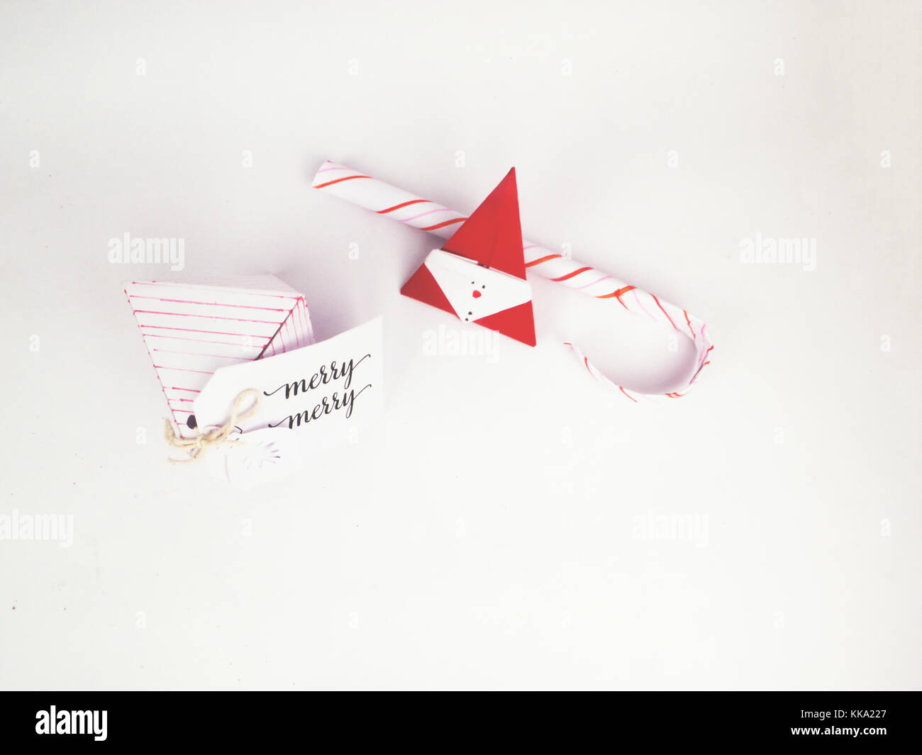 Christmas Decoration with diamond box with candy canes for holidays best background image for Holiday invitation - Stock Image