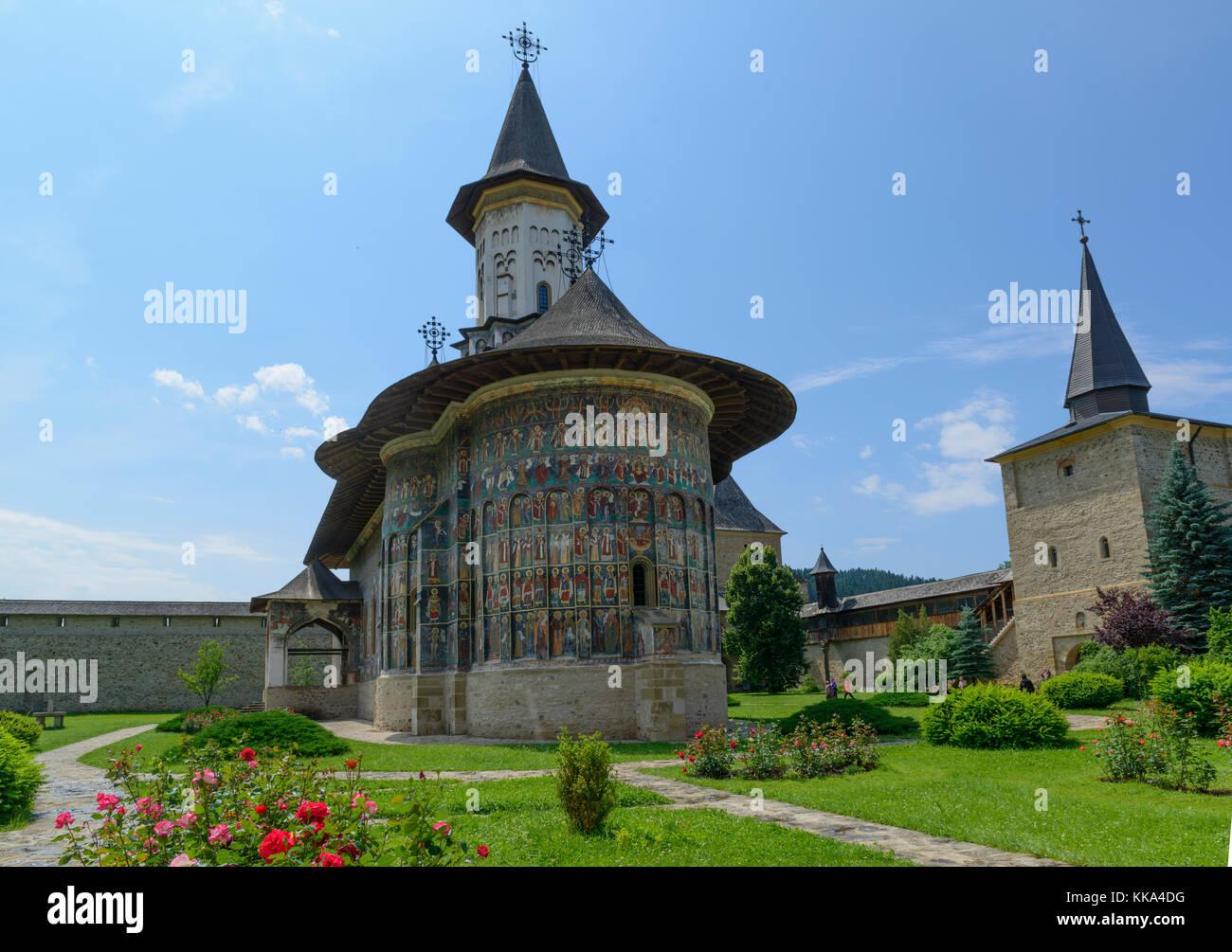 Sucevita monastery in Bukovina, Romania - Stock Image