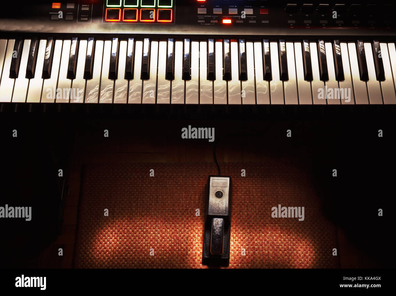 Piano Pedal Stock Photos Images Alamy Keyboard Sustain Wiring Diagram Mini Home Studio Midi Controller And Image