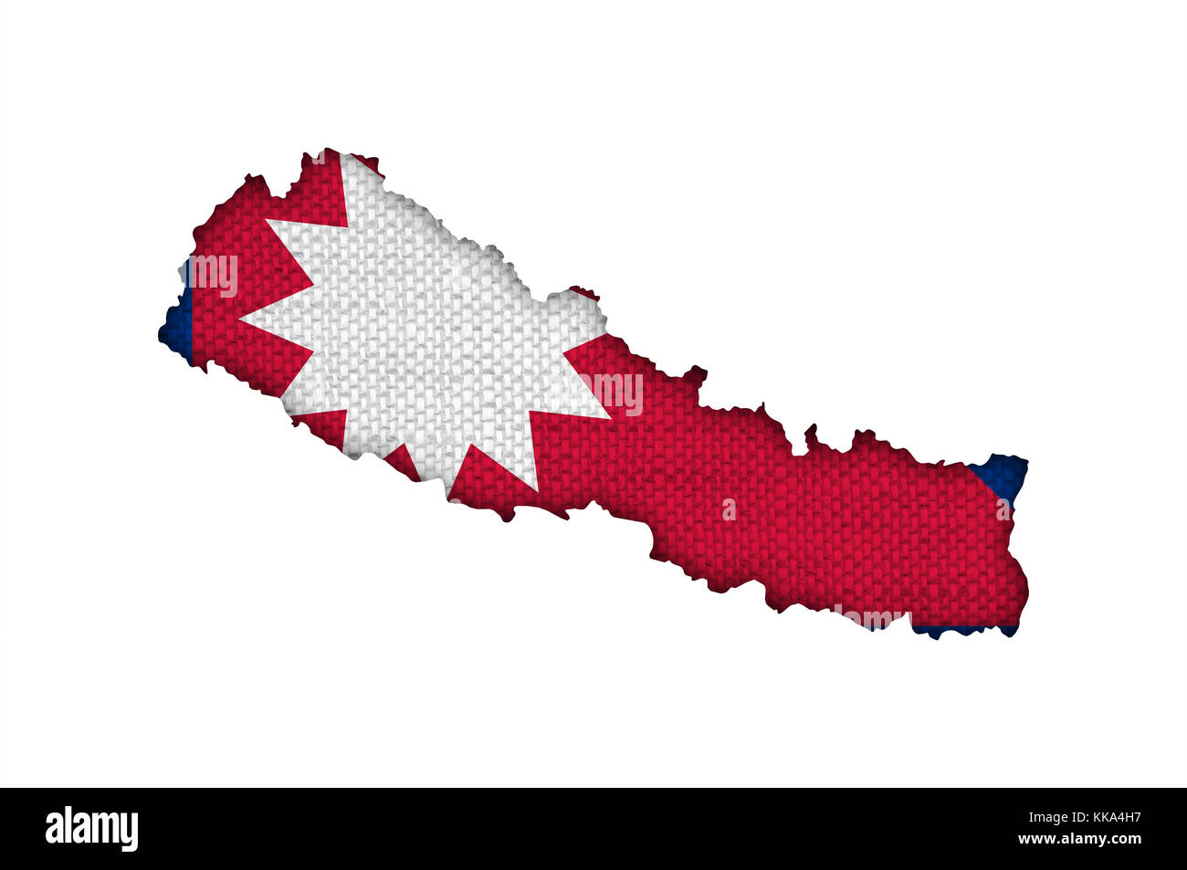 Map and flag of Nepal on old linen Stock Photo: 166794915 ...