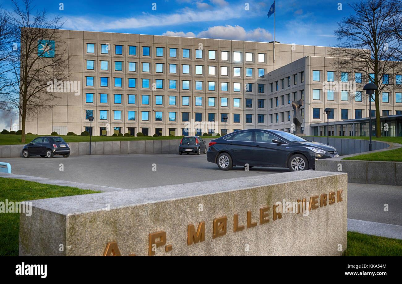 The A P Møller Mærsk A S Maersk head quarter building on Amaliegade, Copenhagen. Stock Photo
